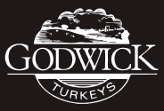 Godwick turkeys logo black and white