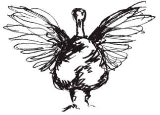 turkey illustration facing outline